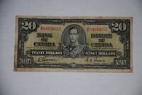 1937 $20 CANADIAN NOTE