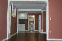 Furnished Bright & clean 2 bedroom suite in a walking basement.