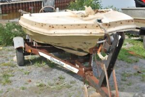 Workboat, trailer,Mercury 25hp 4-stroke