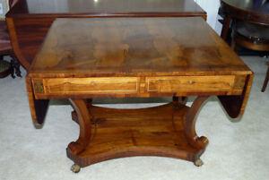 Antique Regency Period Rosewood Sofa Table