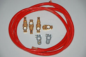 1/0 Battery Cable Kit (10-ft) Fine Strand Annealed Copper - New!