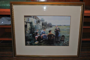 "Print of Daniel Ridgeway Knight's ""The Sewing Circle"""