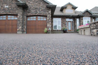 New Driveway with Our $6.00 per sq ft installed Rubber Surfacing