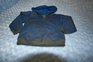 Boys Extreme Zone Hoodie Royal Blue/Grey Stripe Size 5 Years