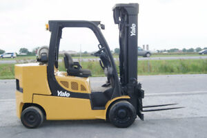 CHARIOT ELEVATEUR,FORKLIFT,PROPANE,CUSHION,REACH,S/S,YALE GLC120