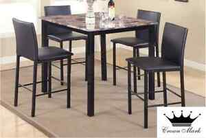 Brand NEW Aiden Marble Dinette Set! Call 306-347-3311!