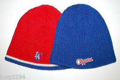 Los Angeles Clippers Reebok Reversible Striped NBA Basketball Knit Hat