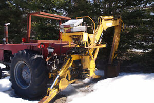 Tracteur Case 430 avec pépine