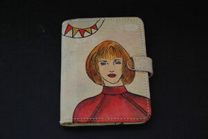 EMILY ANN Hand Painted Unique Genuine Leather Daily Planner