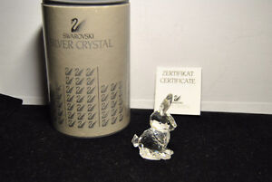 SWAROVSKI SILVER CRYSTAL Mother Rabbit Sitting Figurine