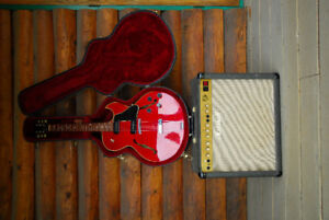 GIBSON GUITAR WITH MARSHALL AMP