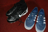 Men's Aididas Shoes and Nike Cleats for baseball