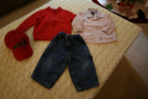 Boys Toddler 4 Pce Tommy Hilfiger Grouping Size 6 - 12 Mths