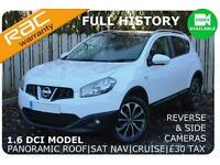 2012 Nissan Qashqai N-TEC + 1.6DCI £30 TAX|1 OWNER|FULL HISTORY|WHITE
