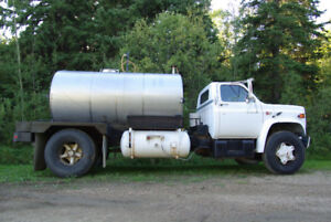 1984 GMC Water Truck with Stainless Steel 1200 Gallon Tank
