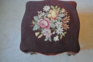 Antique ottoman/ footstool/ footrest
