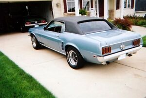 1969 Mustang coupe vinyl roof trim