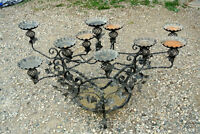 10-arm plant stand, hand made wrought iron, ivy garden sunroom