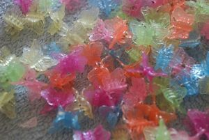 Assorted colours mini butterfly hair clips (Aprox 200+ pcs)