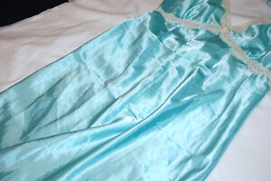 Sleepwear - Long Gown, Straps, L Turquoise colour