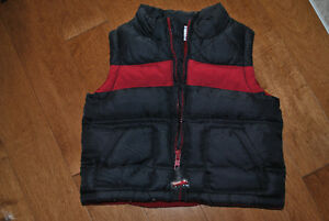 Gymboree Brand 6-12 Month Black/Red Zip Fleece Lined Puff Vest