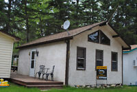 CLEAR LAKE - CABIN  FOR  RENT - OLD  CAMPGROUND - WASAGAMING