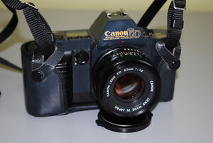 Canon T70 35mm SLR Film Camera with 50mm Canon Lens Kitchener / Waterloo Kitchener Area image 3