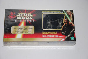 STAR WARS CLASH OF THE LIGHTSABERS CARD GAME PEWTER FIGURES MIB