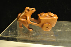 Boxwood Wood Sculpture Carving Netsuke