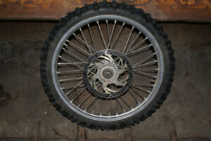 YZ250F Front Rim with Tire and Rotor