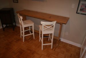 Bar Table/Breakfast nook Table with 2 Chairs