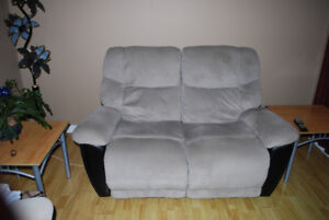 Love seat inclinable gris - reclinable love seat grey