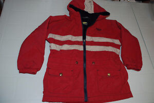 Boys Jacket Oshkosh size 6, orange- red