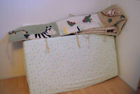 Bumper pads and crib sheets for sale