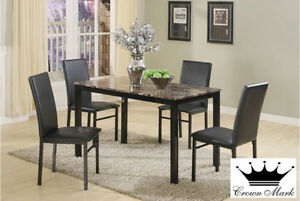 Black metal 5PC dinette