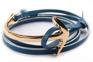 Bracelet Encre Dorée/Bleu