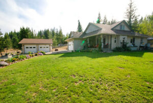 Pride of Ownership Shows in this Private North Okanagan Acreage