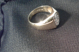 10 K Yellow Gold Ring - with 10 Diamonds