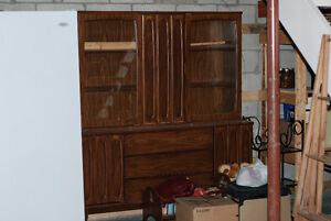 Retro display cabinet and hutch
