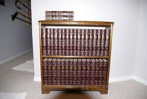 Encyclopedia Americana with Stand
