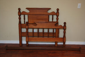 Solid Wood Twin Bedroom Set includes Mattress and Boxspring