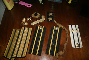 LOT OF SOVIET RUSSIAN NAVY (SUBMARINE OFFICER'S) SHOULDER PLATES West Island Greater Montréal image 2