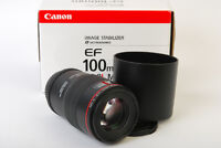 Canon EF 100mm f2.8 Macro L IS Lens MINT/Boxed