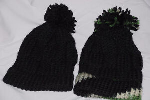 handmade knitted black hats *** for 3-5 years old kids