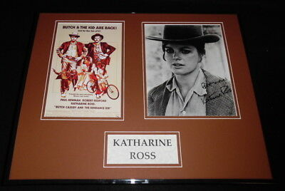 Katharine Ross Signed Framed 16X20 Poster Photo Set Butch Cassidy