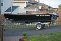 2014 14 ft deep and wide smoker craft aluminum boat