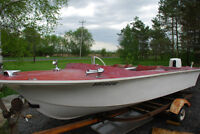 16 Foot Fiberglass with trailer and motor
