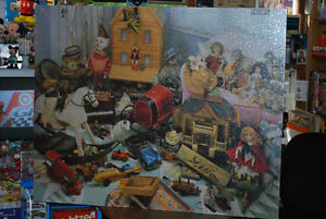 WOW! NEW SEALED GIGANTIC PUZZLE of Vintage Toys etc.4 feet wide!