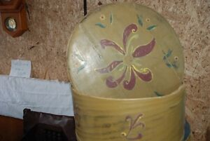 (2) VINTAGE HAND PAINTED ROUND CHEESE BOXES 1@$10, 1@$15