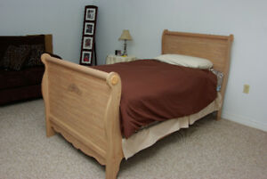 SLEIGH BED (All Wood) SINGLE - $370